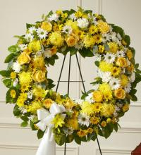 Yellow and White Standing Wreath